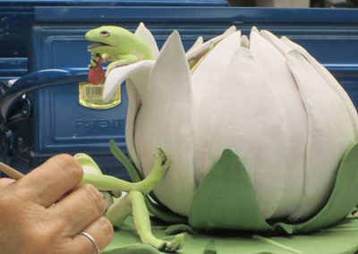 All About Clay Glazing Sculpted Frogs