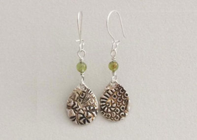 Fine Silver Clay Earrings