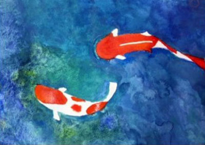 Painting and Drawing Student Piece Koi
