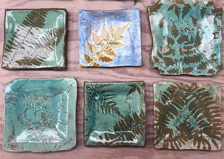 Teen Class Clay Leaf Plate Project