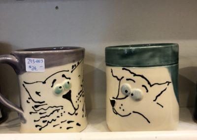 Cat and Dog Mugs