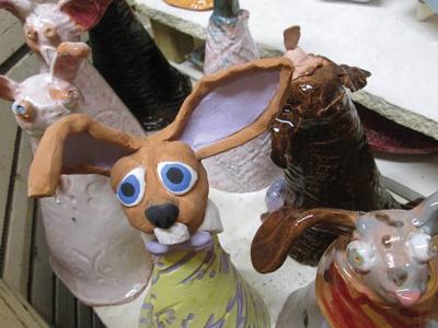 Kids-Handbuilt-rabbits